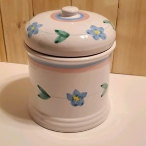 Italian Caleca, hand painted cookie jar
